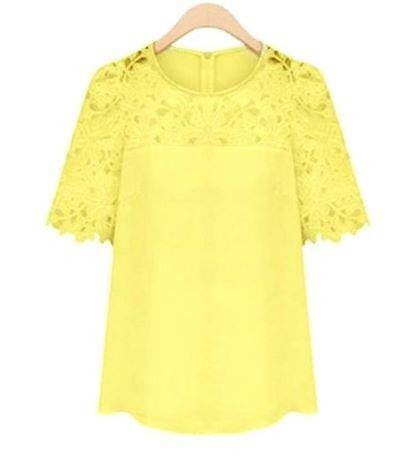 Blusa Amarela Importada-pronta Entrega