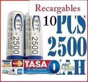 10x Aaa 3a Mah Baterías Recargables Jueguetes Bebés Galaxy