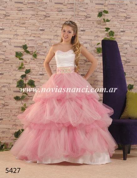 Vestido De 15 Años De Tul En Dos Tonos Novias Nanci