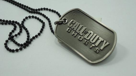 Call Of Duty - Corrente Com Placa Dog Tag - Colar Ghosts
