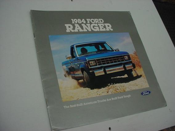 Folder Ford Ranger Pickup Picape Xl Xlt Sxt 84 1984