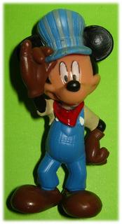 Mickey Mouse Disney Maquinista De Ferrocarril Figura Pvc