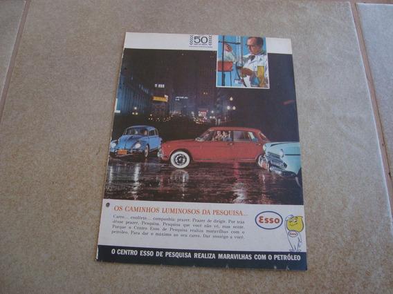 Propaganda Antiga Esso 1962 Posto Oleo Texaco Mobil Fusca