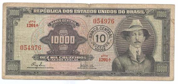 Brasil - C-125, 10 Cruzeiros Novos, 1967, Série 1030ª, Mbc