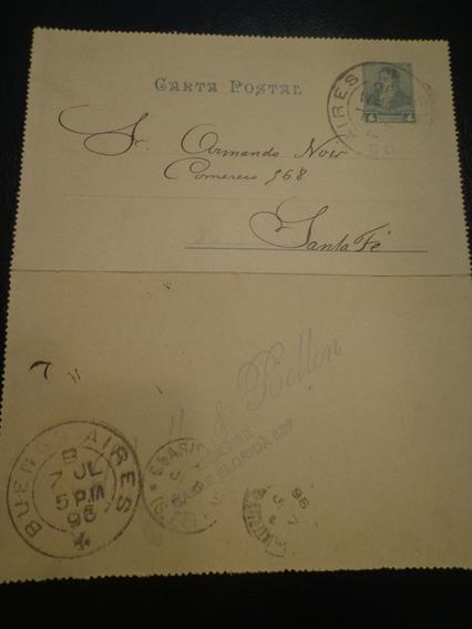 Entero Postal Año 1896 Con Publicidad De Importadores