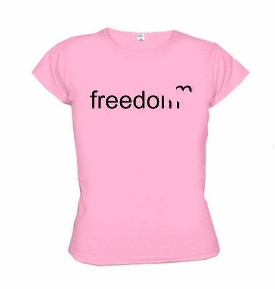 Camiseta Freedom - Liberdade - Wimza