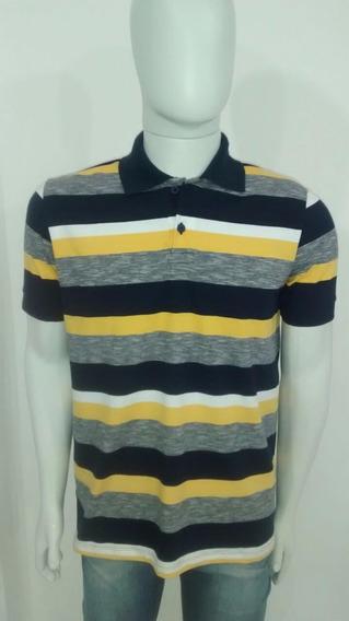 Camisas Gola Polo Listradas Tamahos: P, M, G,