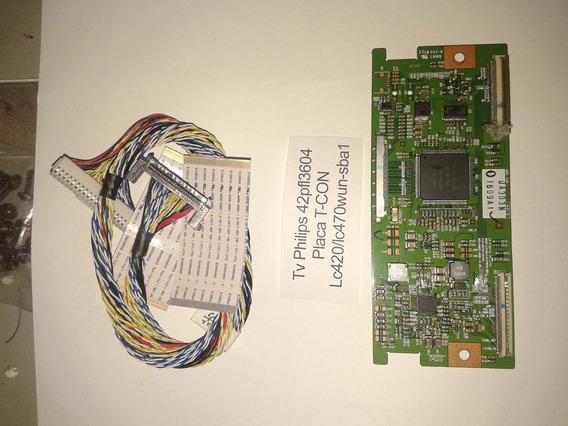 Placa T-con Tv Philips Mod 42pfl3604 Cod. Lc420/lc470 Wun