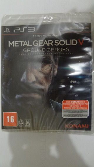 Metal Gear Solid 5 Ground Zeroes Ps3 Novo E Lacrado