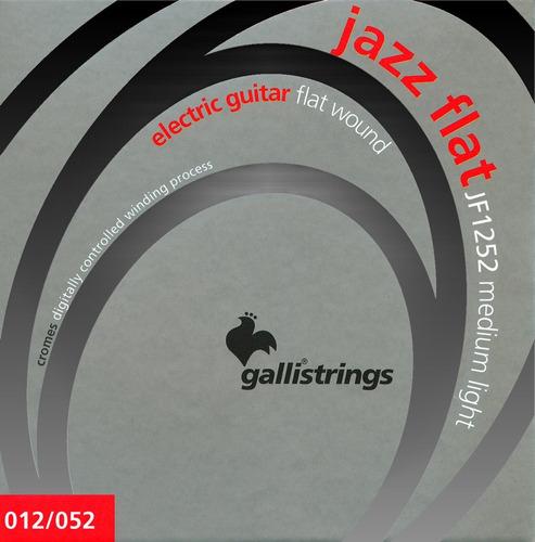 Cuerdas Guitarra Electrica Flat Gallistrings 012 Jazz Italia