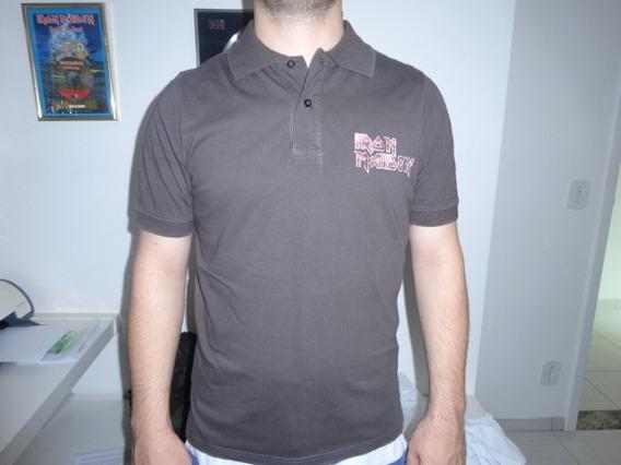 Iron Maiden Camiseta Vintage Oficial M Rara Fora De Catalogo