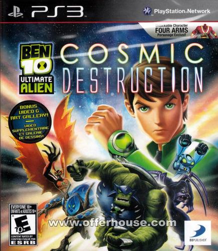 Ben 10 Cosmic Destruction Ps3 - Aceito Trocas