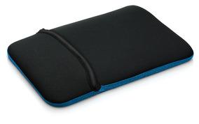 Capa Case Neoprene Multilaser Para Tablet 07 Preto E Azul