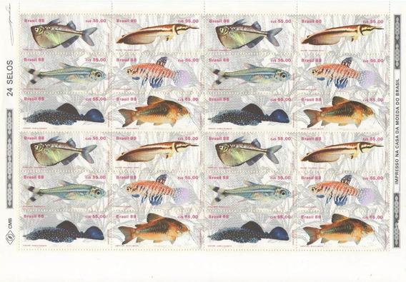 25 Folhas De Selos Peixe C-1608 A 1613 - Frete Grátis