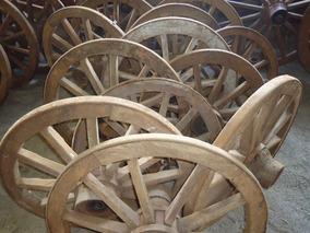 Liquida!!! Roda De Carroça Antiga! Venda Por Un! 0,75 Diâm!