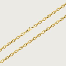 Cordão Cadeado Masculino Em Ouro 18k - 60cm