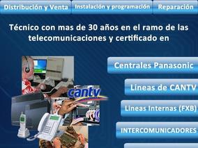 Reparo Averías Lineas Telefónicas, Centrales Panasonic,progr