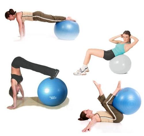 Pelota Pilates Terapeuticas 75cm + Inflador  Tienda Lince