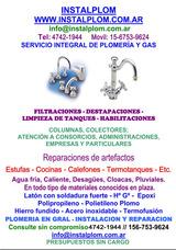 Plomería Gas Y Electricidad - Matriculado - Destapaciones
