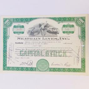 Apólice Ação Seatrain Lines Inc Company 1955 Objeto Antigo