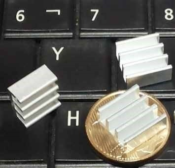 3x Dissipador Alumínio Uso Geral Arduíno Raspberry Frete $12