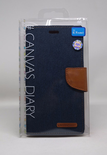 Funda Redmi Note 3 Mercury Goospery Canvas Diary Navy