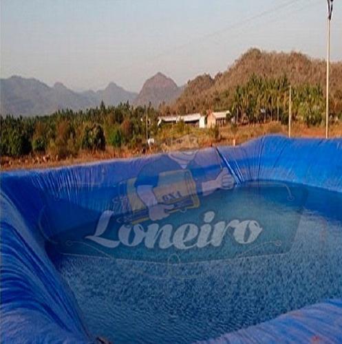 Lona 12x12 M Lago Tanque Peixe Piscina Artificial Ornamental