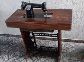Máquina Costura Vigorelli Antiga Base De Madeira (143)