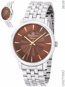 Relógio Feminino Champion Elegance Prata Cn27750o Original