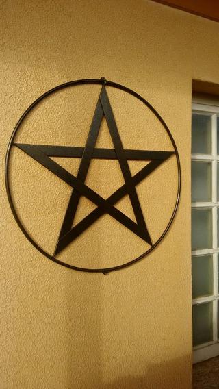Pentagrama Estrela 5 Pontas Rituais Ferramenta Porta Cabala