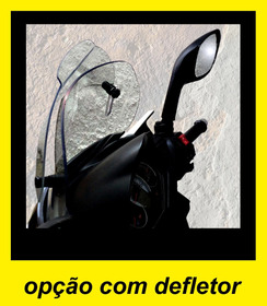 Para-brisa Em Policarbonato Cristal Com Defletor P / Citycom