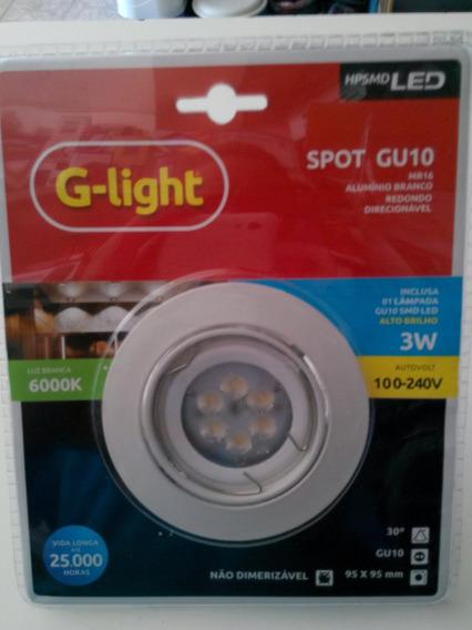 Lâmpada Led Spot Gu10 3w Autovolt Red. Completa