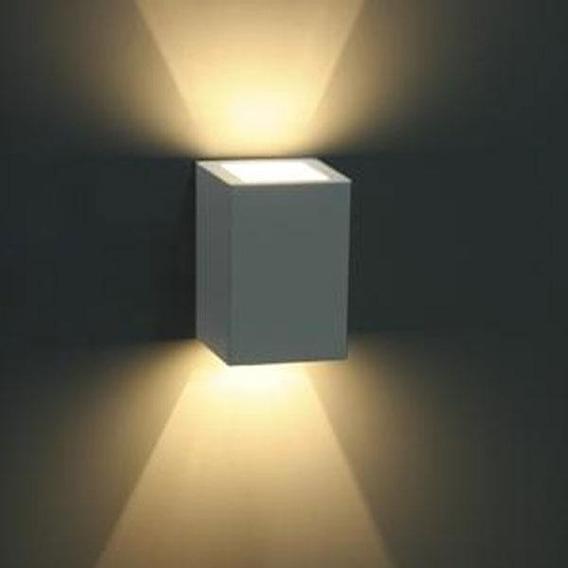Arandela Externa Facho Duplo Alumínio 15100 Branco Fosco