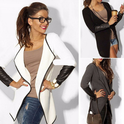 Chaqueta Fashion Mujer Jacket Blazer Long Sleeve Knitwear Le