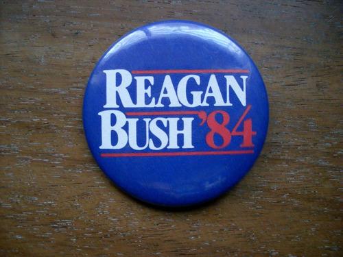 Pin Campaña Reagan Bush 84 Original Republicano Conservador