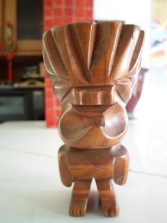 Figura Idolo Tribal Madera Vintage Decoracion Iluminacion
