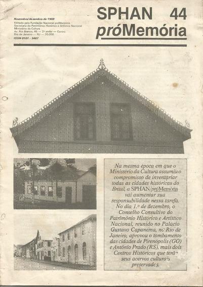 Boletim Spahn Pró-memória Nº 44 ¿ Nov/dez De 1988 - Único