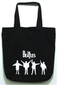 Bolsa The Beatles Rock Grande Ecobag Passeio Escolar