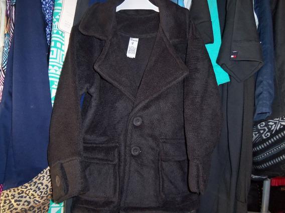 Saco De Polar De Nene Talle 4 Color Negro