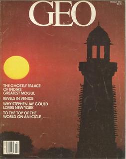 Revista Geo De Março A Agosto De 1984 - (6 Revistas) Inglês