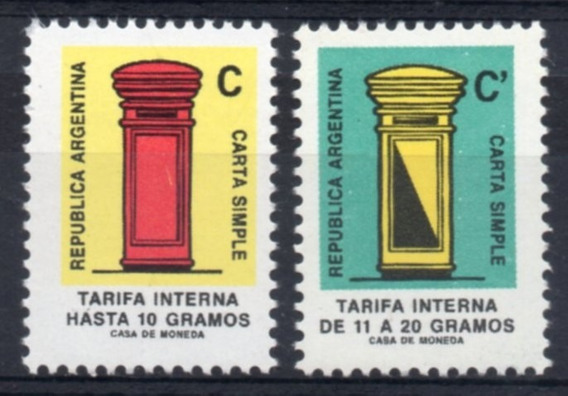 Argentina 1987 Gj 2344/45** Mint S. Básica Buzón A