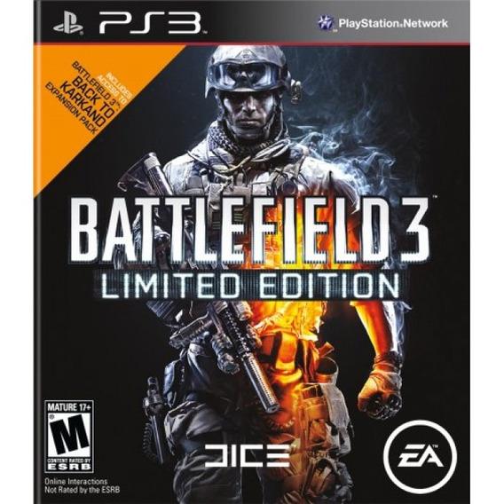 Jogos Para Ps3 - Battlefield 3 Limited Edition - Original
