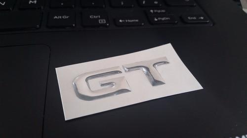 Aplique Emblema Gt Para Tampa Traseira Do Lancer