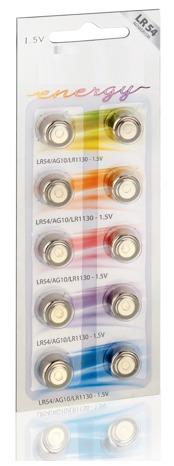 Kit 10pcs Cartela Bateria Moeda Lr54 1.5v Frete Grátis