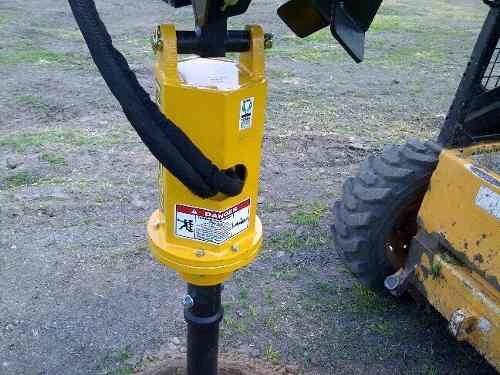 Imagen 1 de 10 de Hoyadora - Pocera Hidráulica Para Minicargadora O  Retro