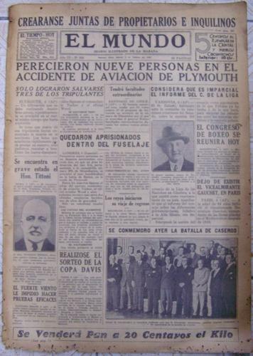 El Mundo Nº 992 * 5 De Febrero De 1931 * Diario Ilustrado *