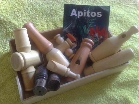9 Apitos De Madeira P/ Aves E Animais Silvestres Caça Livro