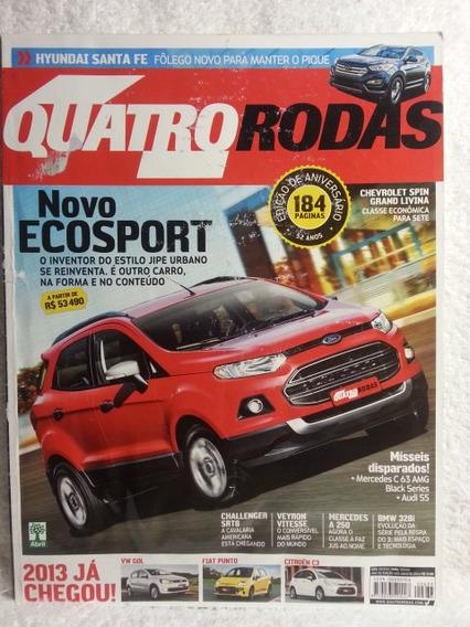 Revista Quatro Rodas 633 Ago/12 Ecosport Santa-fé Spin Punto