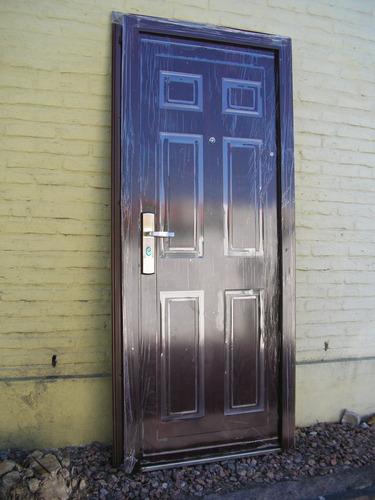Puerta Semiblindada Imp.s/madera 13 Trancas+accesorio Envios