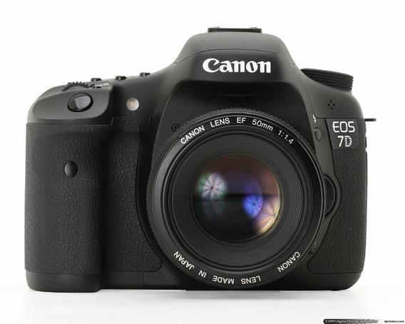Canon Eos 7d + Lente Efs 18-135mm + 3 Baterias